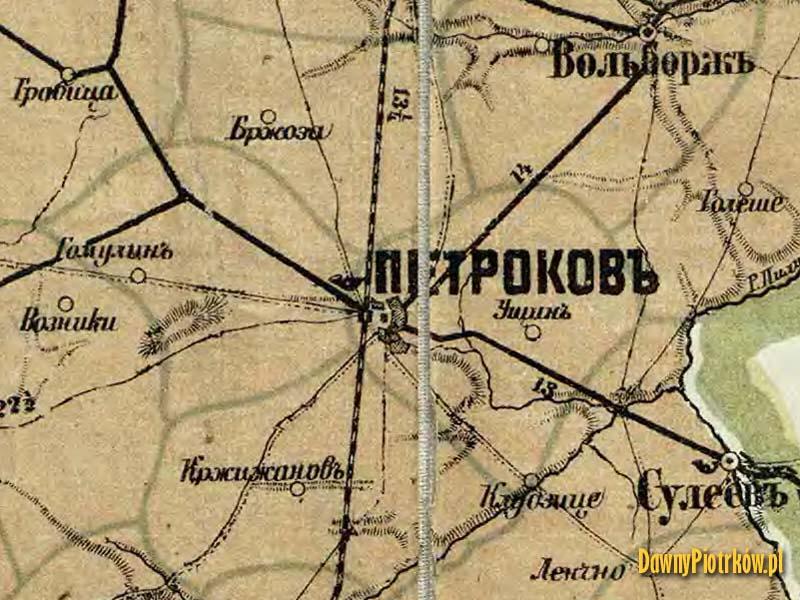 Mapa okolic Gomulina